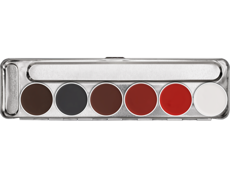 Kryolan Aquacolor Palette 6 Colors - Stage